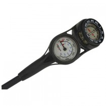 Promate Mini Pressure Gauge with Compass Console